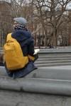 Yellow backpack! Heart!