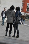 Se cute young couple visiting the city