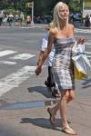 Tie dye body con dress
