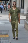 military green with a dash of navy and pop of red