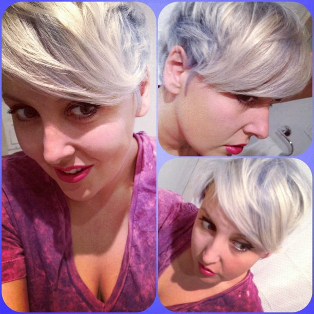 silver to blue hair